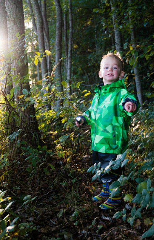 Taking nature walks at night lets kids explore a whole new world...and use a flashlight!