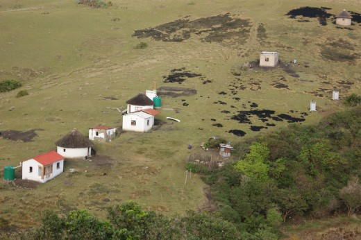 Typical Tribal houses in the Transkei area