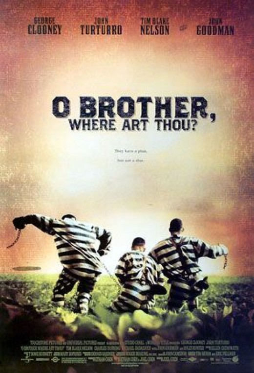 Joel and Ethan Coen have overtly billed their 2000 comedy O Brother, Where Art Thou? as based on Homer's Odyssey. Using cars and trains where Odysseus and his men used boats and rafts, they engage with the theme of a man's love for wife and home.