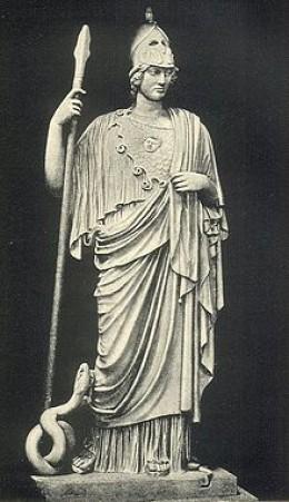 Athena was the Greek Goddess of wisdom