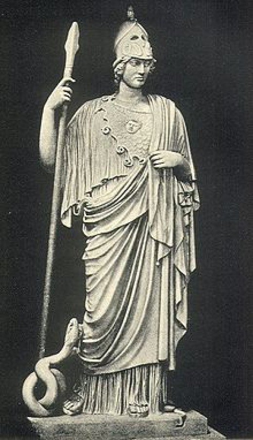Athena was the Greek Goddess of wisdom
