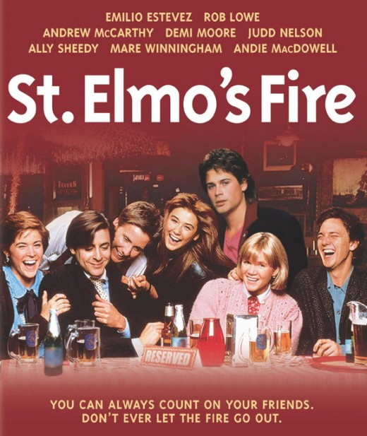 "St. Elmo's Fire was a classic ""coming of age film"" that featured the Brat Pack."
