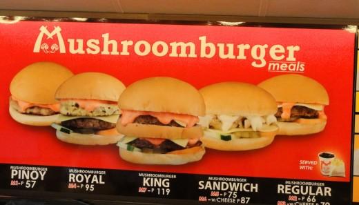 Mushroom Burger Menus