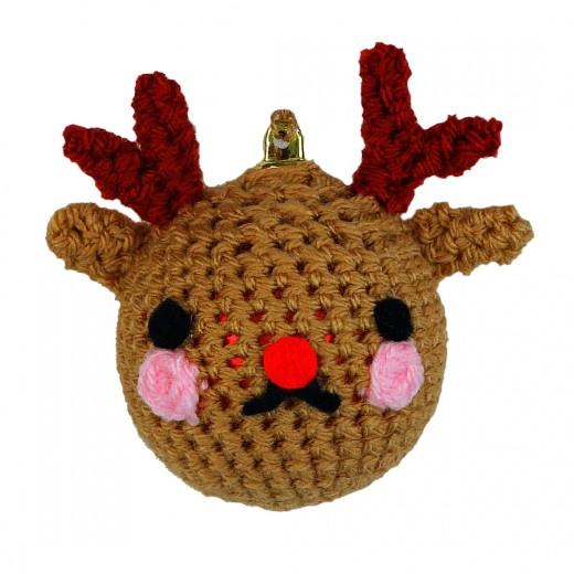 Crochet Reindeer Bauble