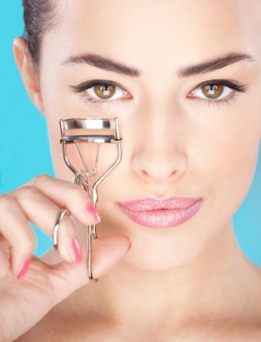Pretty Woman Holding Tool For Eyelash