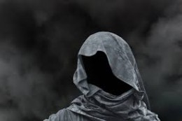 Several residents spotted a hooded figure but they did not get to see the truth that lies beneath.