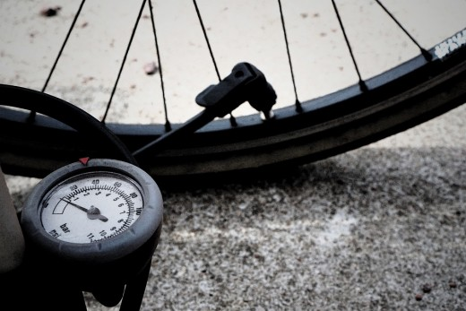 Here is a sample of a bike pump with gauge.