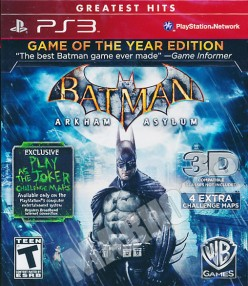 Videogame Review: Batman: Arkham Asylum Game of the Year Edition (2010) PS3