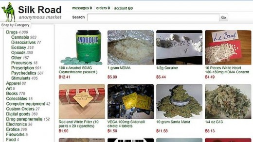 Screenshot of the original Silk Road Marketplace
