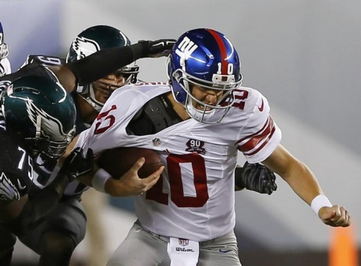 New York Giants QB Eli Manning is going to have another long game against the Eagles