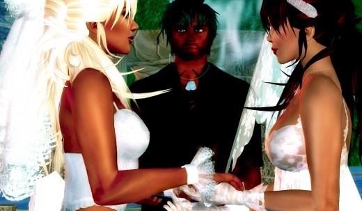 Lesbian Wedding in Second Life