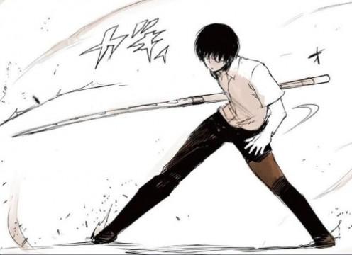 Young Arima using the quinque Yukimura 1/3.
