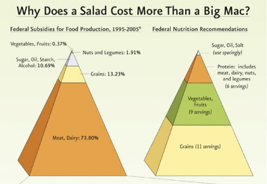 One of the main reasons for the obesity epidemic is the heavy subsidization of unhealthy food, making it cheaper in stores than healthy food.