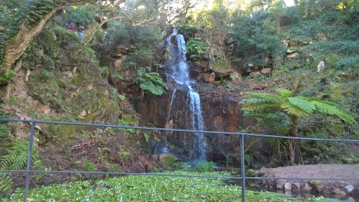 Beautifull waterfal at Monserrate gardens