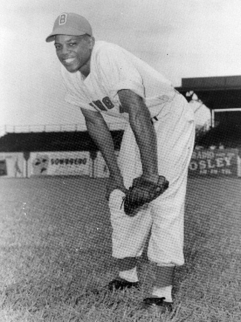 17 year old Willie Mays playing for the Birmingham Black Barons