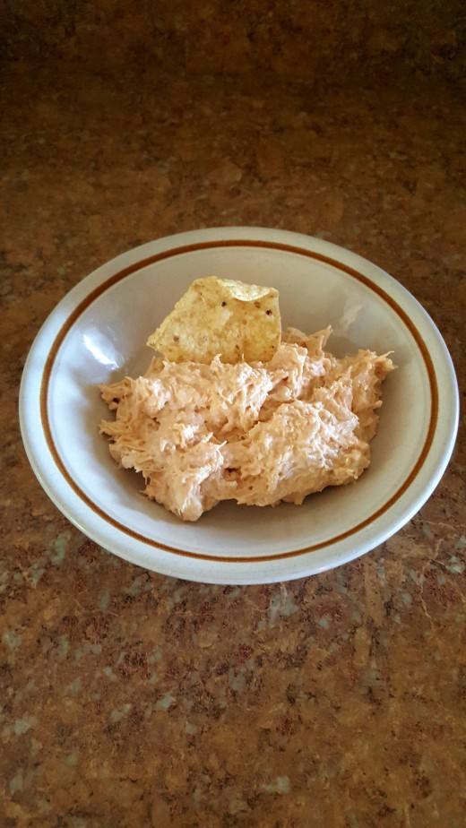 Delicious 10 minute Chicken Dip.
