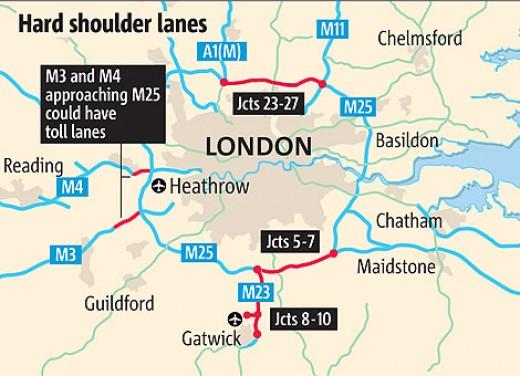 London's extensive motorways