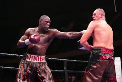 Wilder landed jabs and rights hands all fight until finally scoring a TKO victory.