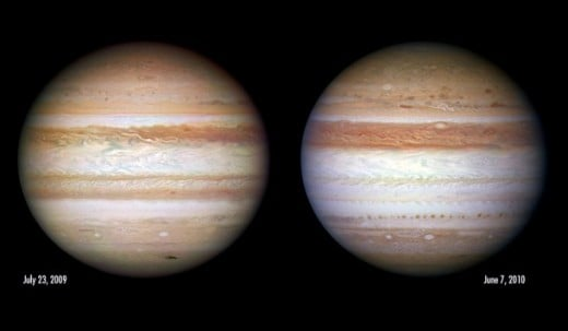Jupiter has changed