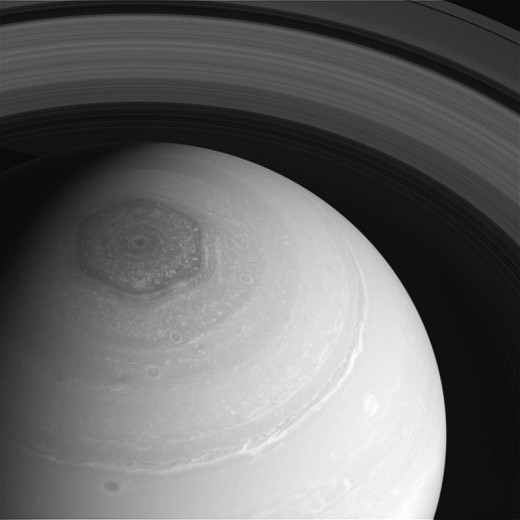 top of Saturn..strange hexagon