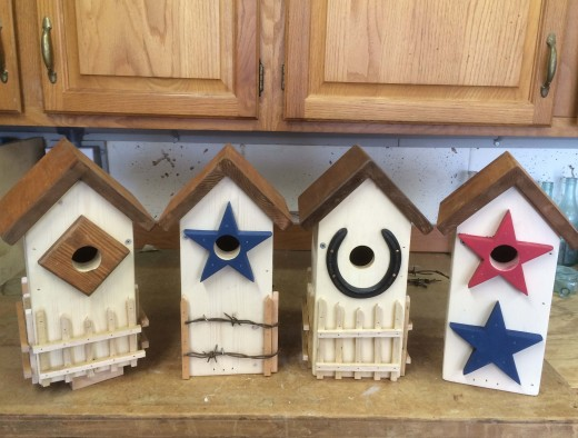 Rustic Country Bluebird Houses