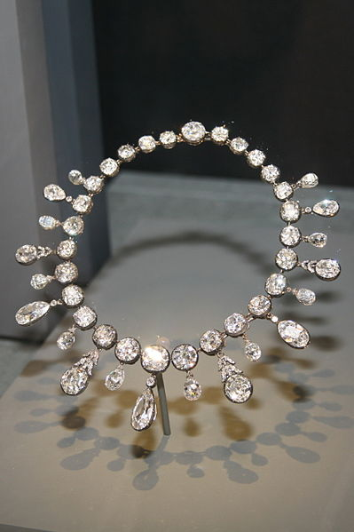 Napoleon Diamond Necklace on display in the Smithsonian Institution in Washington D.C., United States.