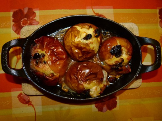 Savory fillings mean that stuffed apples can be served as a side dish with main meals