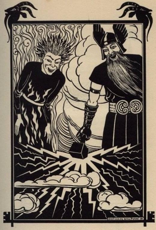 Gust. van de Wall Perné, illustration for the Edda