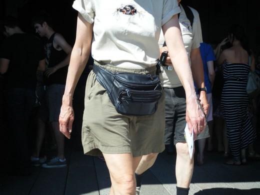 Men and women alike  can wear fanny packs