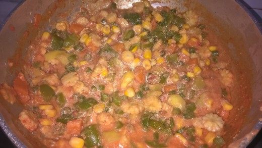 Cottage Cheese Mix Vegetable Curry