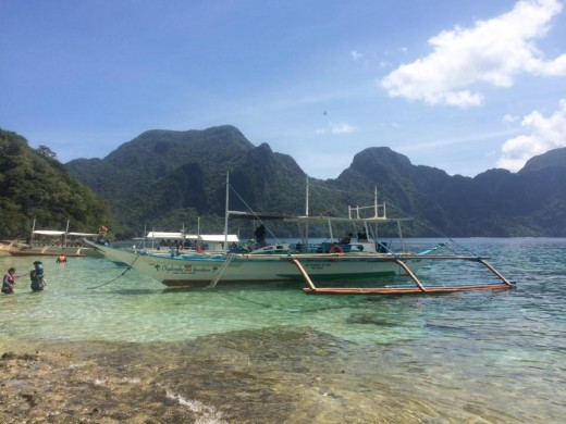 "The banca –€"" local tour guides used for island hopping around El Nido"