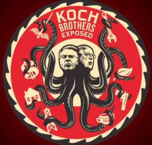 The corruption of the Koch Brothers and others like them.