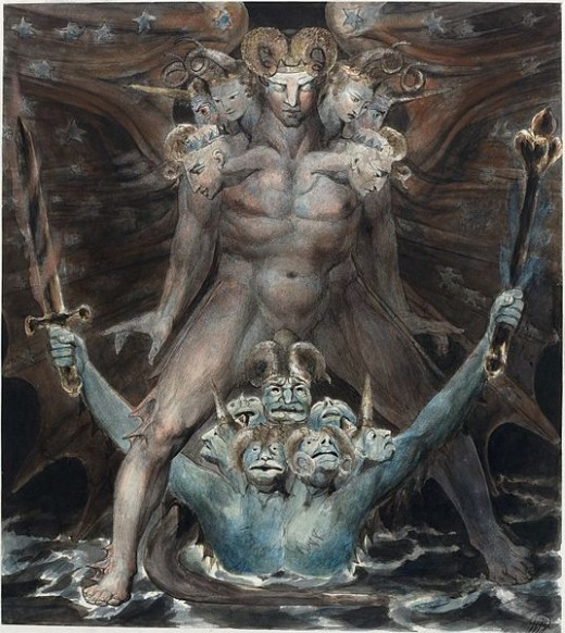 The Great Red Dragon and the Beast from the Sea, William Blake, 1805  National Gallery of Art, Washington, D.C.