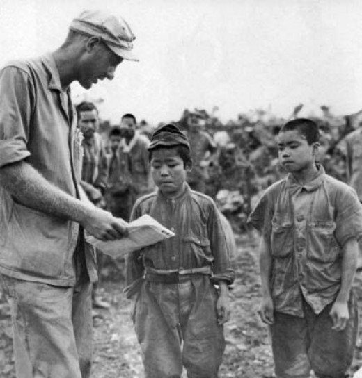 Children soldiers In Okinawa