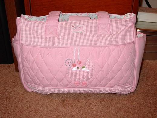 A sample diaper bag for girls.