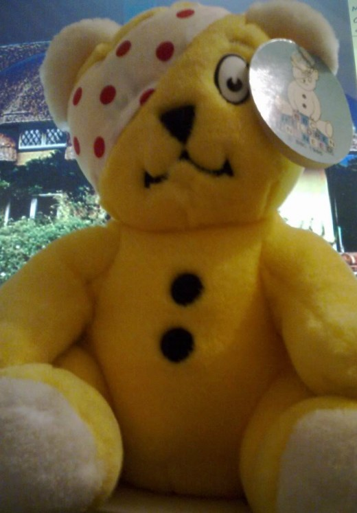 Pudsey bear:  mascot of 'Children in need'