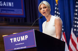 Ivanka campaigning for her dad.