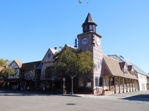 Clock tower in Solvang.