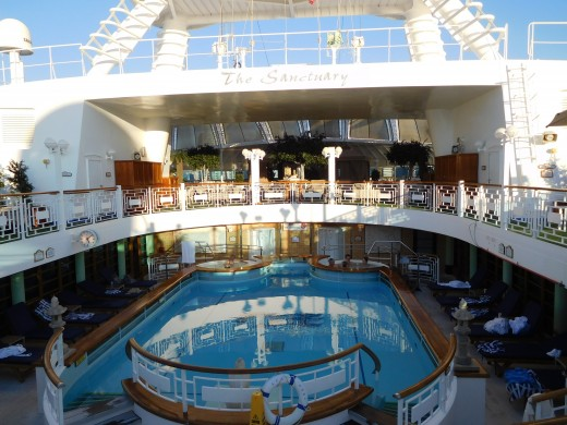 The spa pool, my favorite pool on the Ruby Princess.