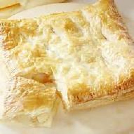 puff pastry apple squares