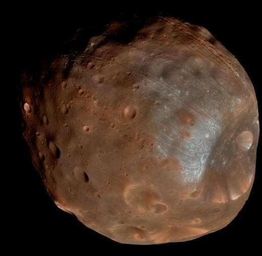Phobos one of the Martian moons