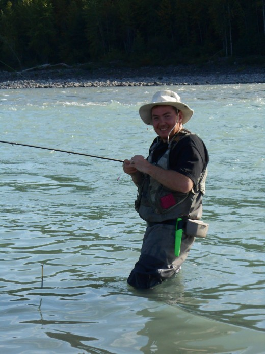 Thats me baitcasting on the Skeena