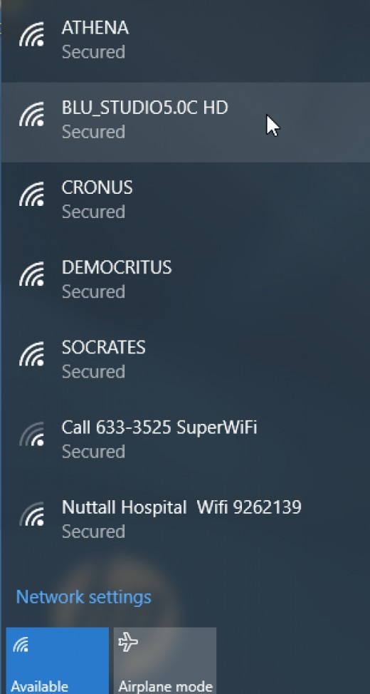 Select Your Wireless Network Name