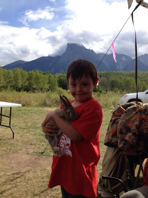 Jonah at camp in Hazleton, BC