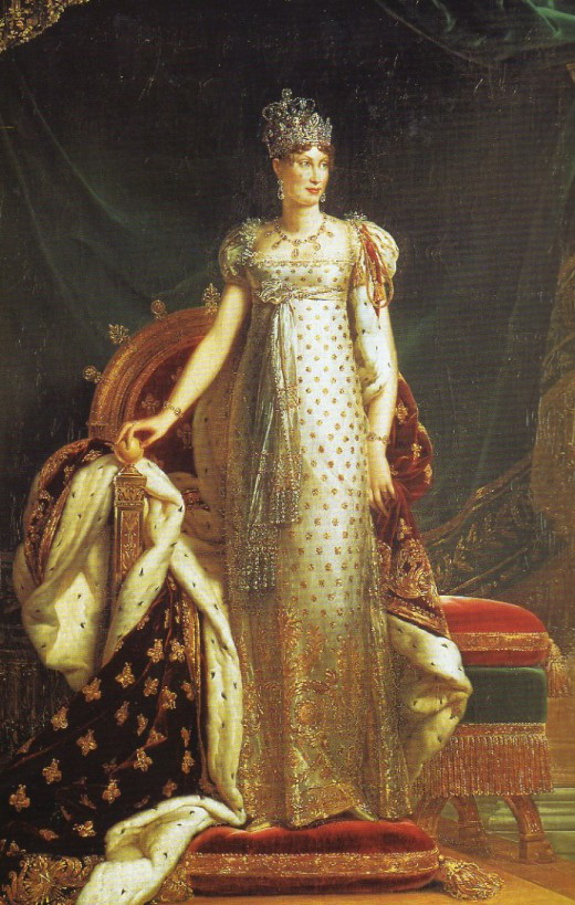 Marie Louise, Duchess of Parma wearing the Napoleon Diamond Necklace and the Marie Louise Diadem