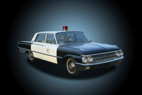 This is just one of the many Ford automobiles used on The Andy Griffith Show as Andy and Barneys cruiser