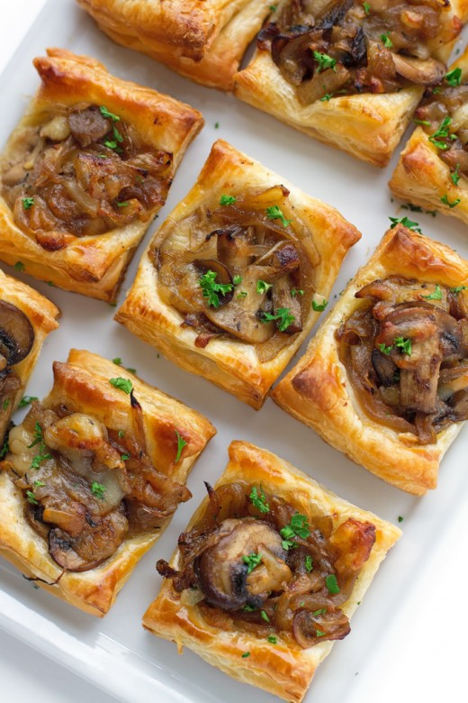 Mushroom and Caramelised Onion Polenta Bites