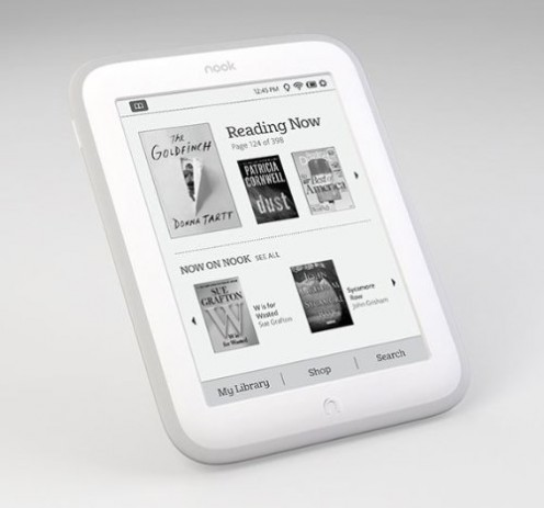 One of the ebook readers I would recomment is the Nook Glowlight eBook reader because it has lots of awesome features including up to 4GB of storage space