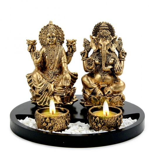 The worship of Goddess Laxmi and Lord Ganesha