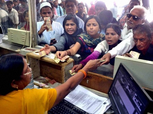 Queue Outside Railway Booking Counter